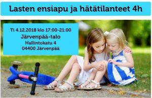 Lasten ensiapu ja hätätilanteet
